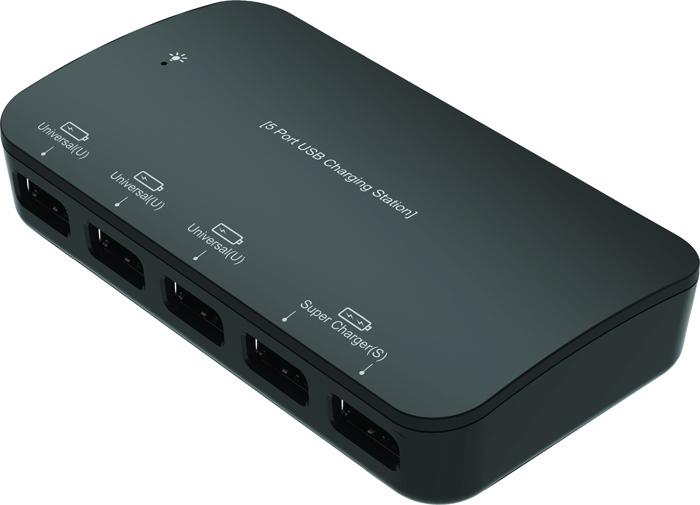 """Сетевое зарядное устройство Partner USB 7.2A """"Smart-5U"""""""