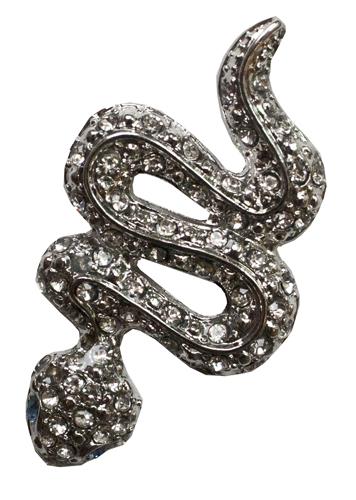 "Наклейка ""Змея серебристая"""