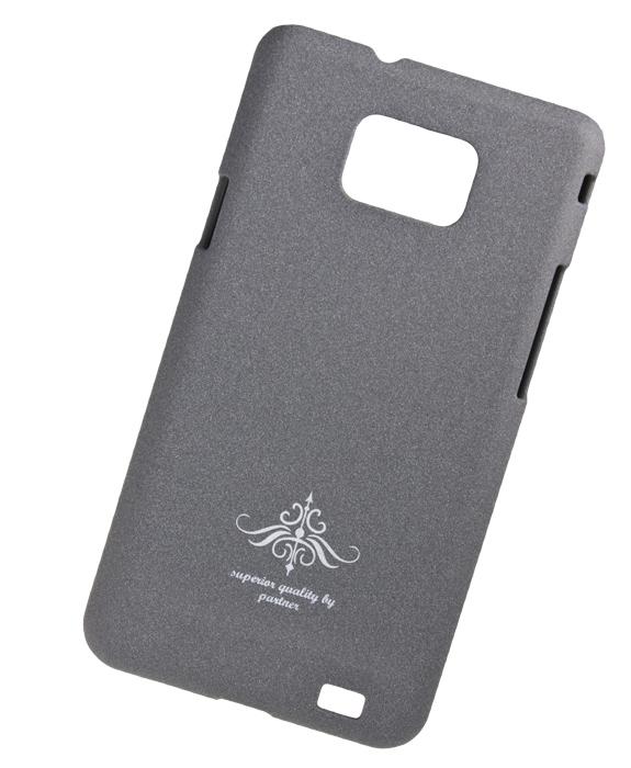 Чехол-накладка Samsung Galaxy S2 Plus i9105 (серый матовый)