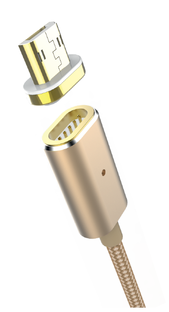 Магнитный кабель USB 2.0 - microUSB, 1.2м, Partner