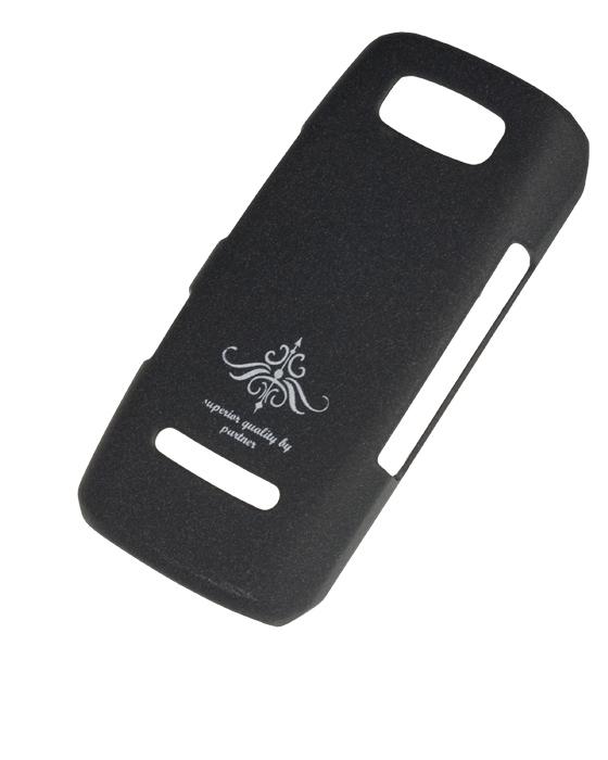 Чехол-накладка Nokia Asha 303 (черный матовый)